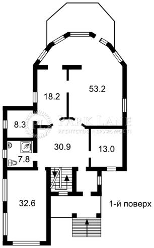 Дом ул. Береговая, Петропавловская Борщаговка, J-14679 - Фото 3
