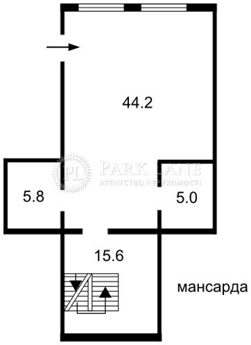 Дом ул. Береговая, Петропавловская Борщаговка, J-14679 - Фото 5