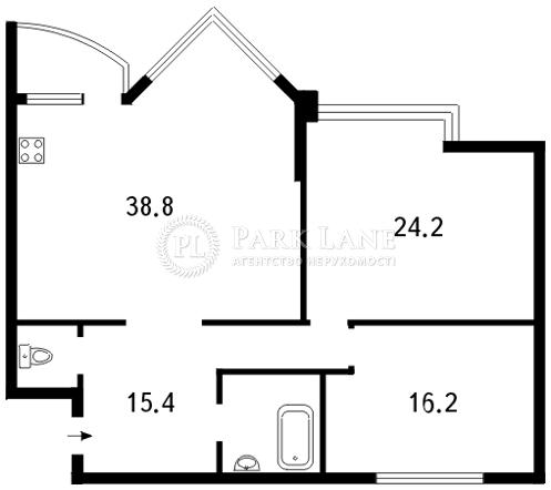 Квартира ул. Бульварно-Кудрявская (Воровского) , 11а, Киев, A-61560 - Фото 2