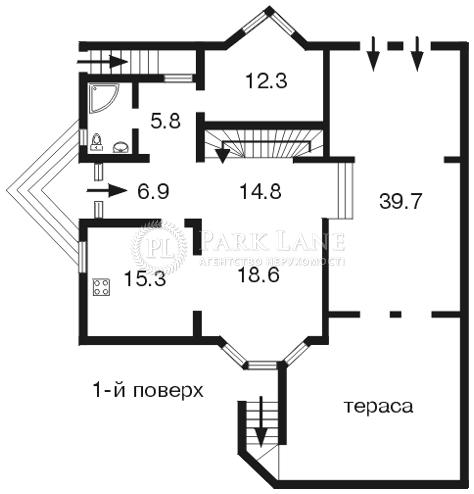 Дом ул. Крутогорная, Киев, D-13241 - Фото 1