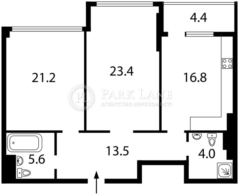 Квартира ул. Драгомирова Михаила, 14, Киев, E-31267 - Фото 2