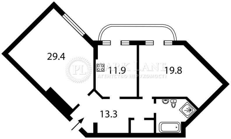 Квартира ул. Соборная, 8, Бровары, N-14091 - Фото 2