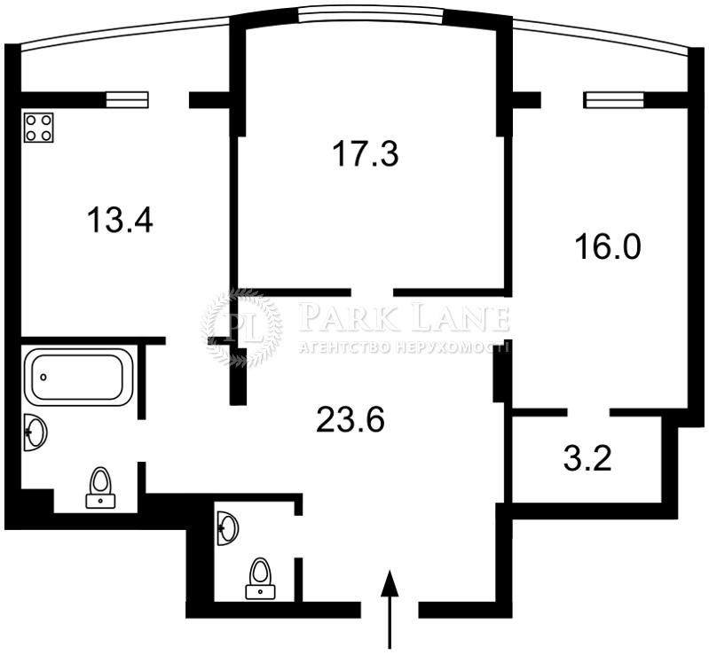 Квартира Леси Украинки бульв., 7б, Киев, Z-171097 - Фото 2