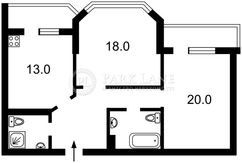 Квартира ул. Белицкая, 20, Киев, Z-1368631 - Фото 2