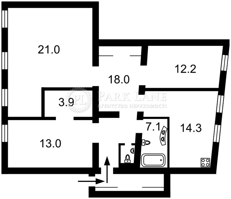 Квартира ул. Толстого Льва, 8, Киев, R-7904 - Фото 2
