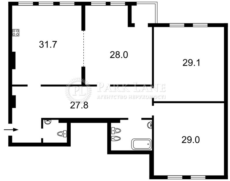 Квартира ул. Ольгинская, 6, Киев, I-27136 - Фото 2