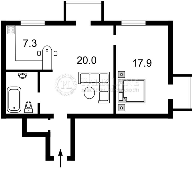 Квартира ул. Первомайского Леонида, 9а, Киев, N-18436 - Фото 2