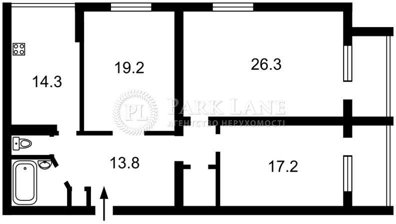 Квартира ул. Драгомирова Михаила, 2, Киев, Z-159978 - Фото 2