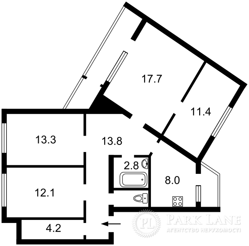 Квартира ул. Приречная, 31, Киев, L-24555 - Фото 2