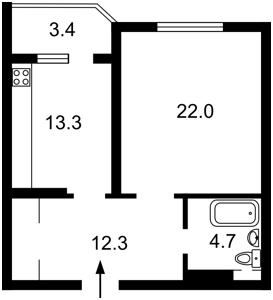 Квартира J-13689, Мишуги Александра, 8, Киев - Фото 7