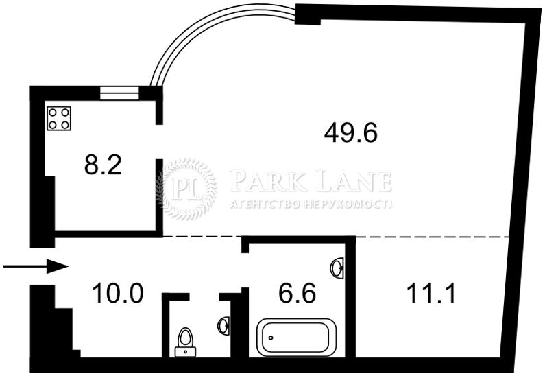 Квартира ул. Борисоглебская, 16в, Киев, Z-1882773 - Фото 2