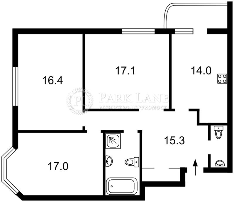 Квартира ул. Руданського Степана, 4-6, Киев, J-24465 - Фото 2