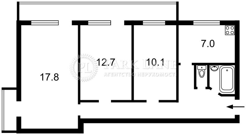 Квартира Тычины Павла просп., 5, Киев, K-25195 - Фото 2