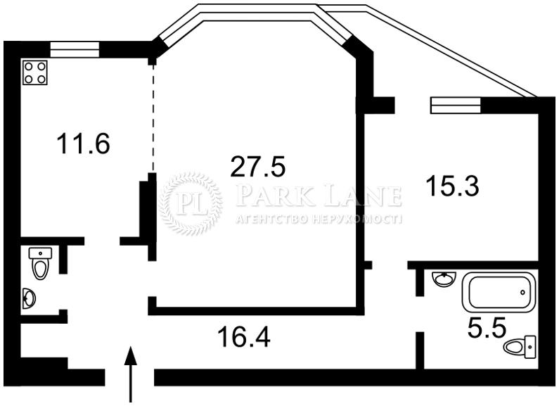 Квартира ул. Никольско-Слободская, 1а, Киев, B-95597 - Фото 2