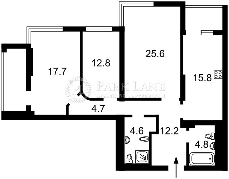 Квартира Лобановського просп. (Червонозоряний просп.), 4в, Київ, R-11798 - Фото 2