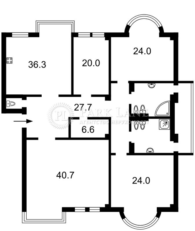 Квартира ул. Институтская, 18б, Киев, B-80326 - Фото 2