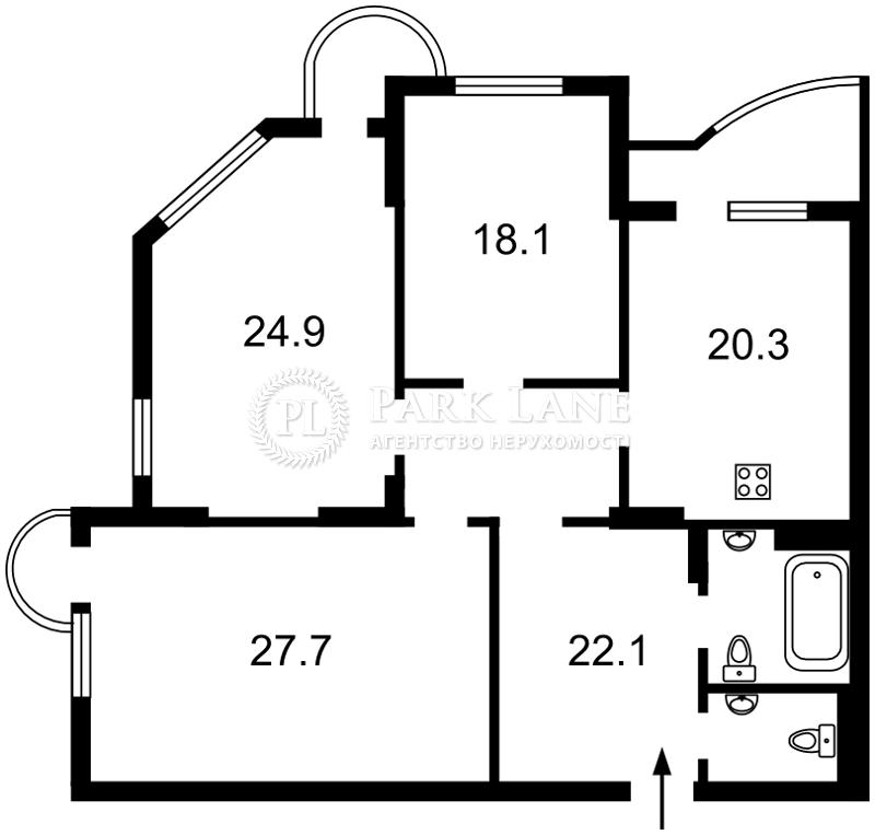 Квартира Кудрявский спуск, 3б, Киев, R-11403 - Фото 2