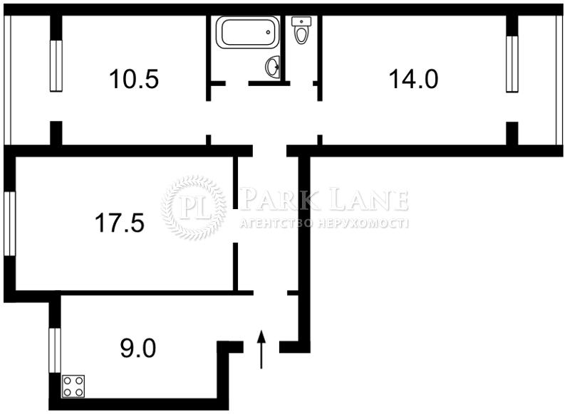 Квартира ул. Котарбинского Вильгельма (Кравченко Н.), 17, Киев, Z-179522 - Фото 2