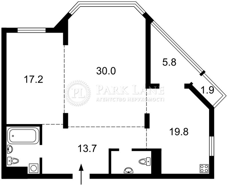 Квартира ул. Болсуновская (Струтинского Сергея), 2, Киев, K-25269 - Фото 2