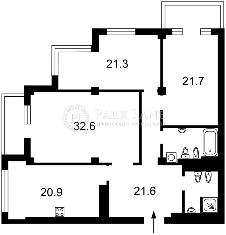 Квартира ул. Драгомирова Михаила, 14, Киев, B-95697 - Фото 2