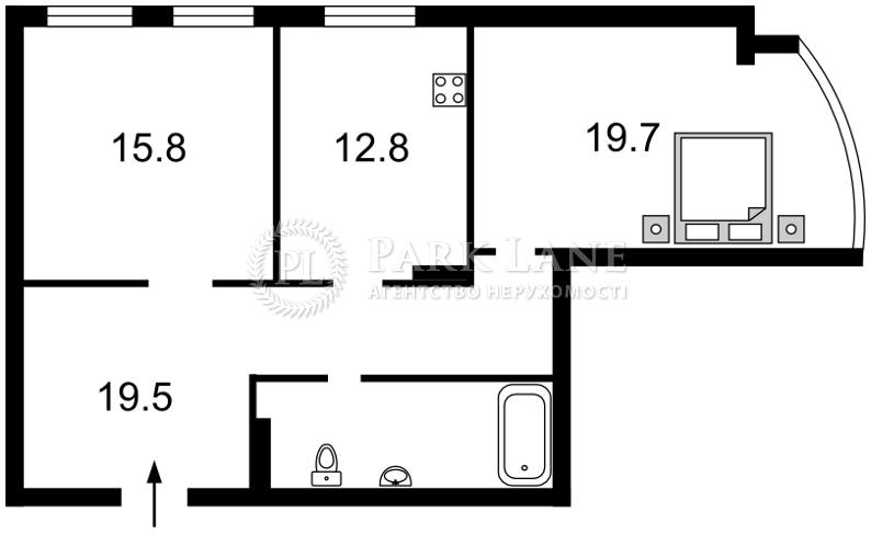 Квартира ул. Подвысоцкого Профессора, 6в, Киев, Z-232076 - Фото 2