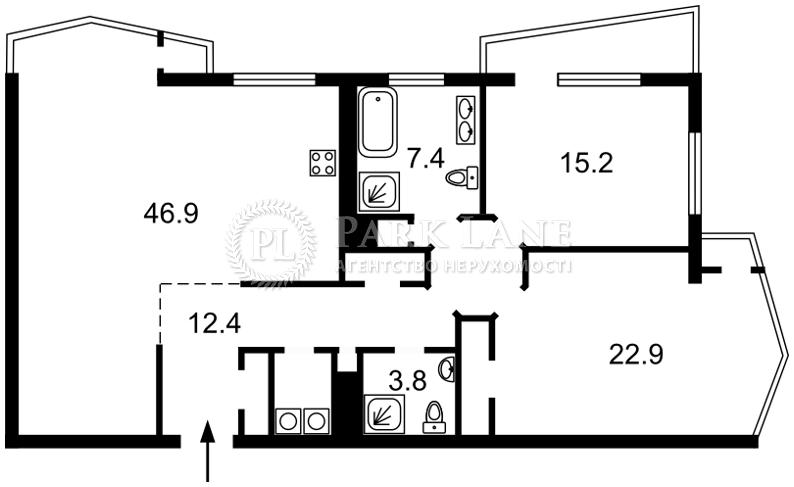 Квартира ул. Сечевых Стрельцов (Артема), 52а, Киев, J-24728 - Фото 2