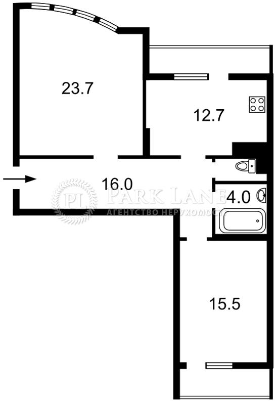 Квартира ул. Сикорского Игоря (Танковая), 1, Киев, Z-224439 - Фото 2