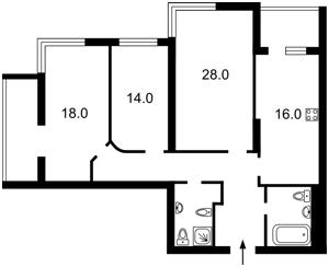 Квартира Z-135908, Лобановского просп. (Краснозвездный просп.), 4а, Киев - Фото 3