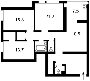 Квартира N-12149, Гончара Олеся, 52, Киев - Фото 5