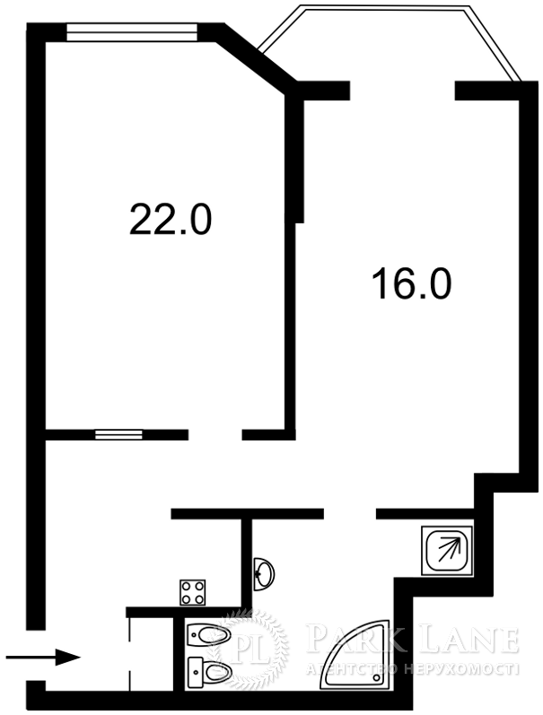 Квартира ул. Иорданская (Гавро Лайоша), 1, Киев, Z-239851 - Фото 2