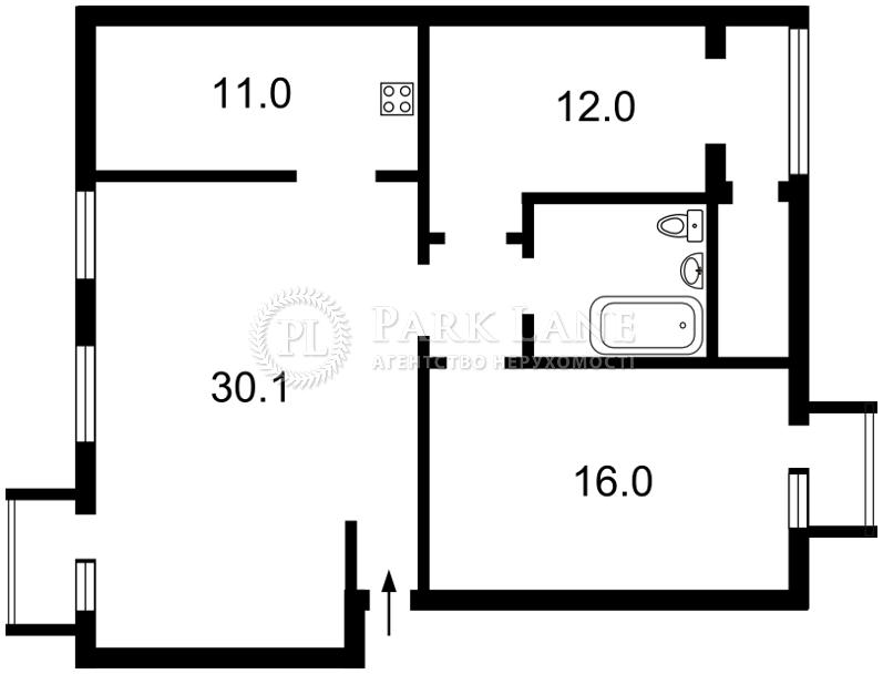 Квартира ул. Ярославов Вал, 28/31, Киев, Z-1202632 - Фото 2