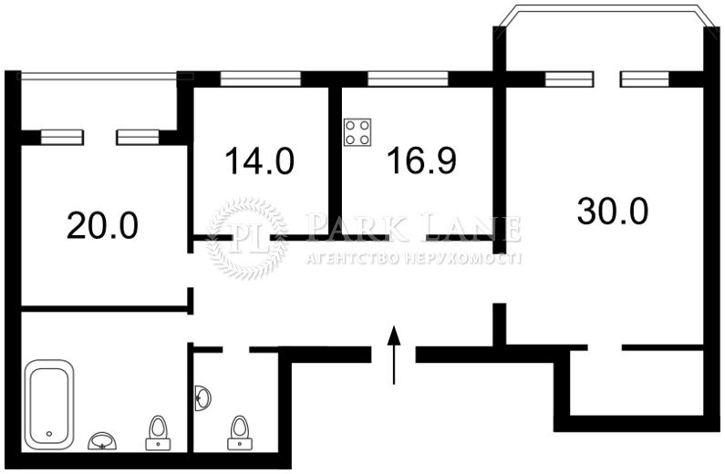 Квартира Бехтеревский пер., 14, Киев, I-17299 - Фото 2