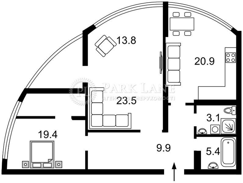 Квартира Лобановского просп. (Краснозвездный просп.), 150, Киев, N-19155 - Фото 2