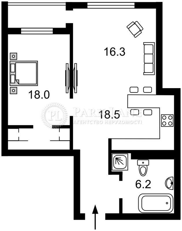 Квартира ул. Саксаганского, 37к, Киев, R-15050 - Фото 2