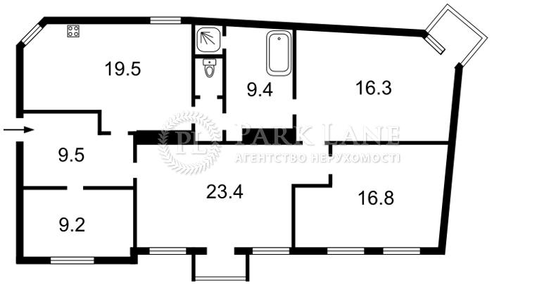 Квартира ул. Ярославов Вал, 14д, Киев, Z-151991 - Фото 2