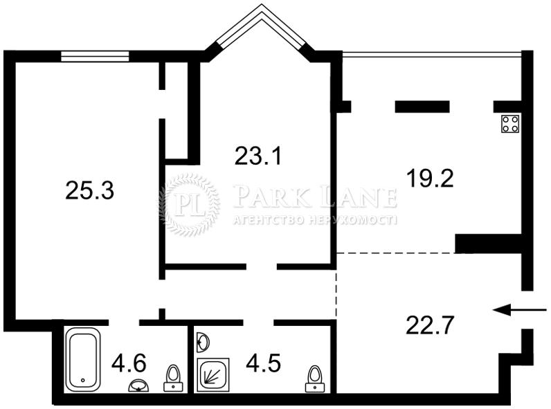 Квартира ул. Коновальца Евгения (Щорса), 32г, Киев, R-15463 - Фото 2