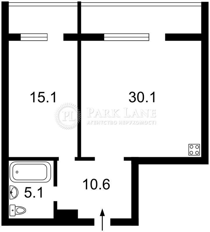 Квартира ул. Коновальца Евгения (Щорса), 44а, Киев, Z-292129 - Фото 2