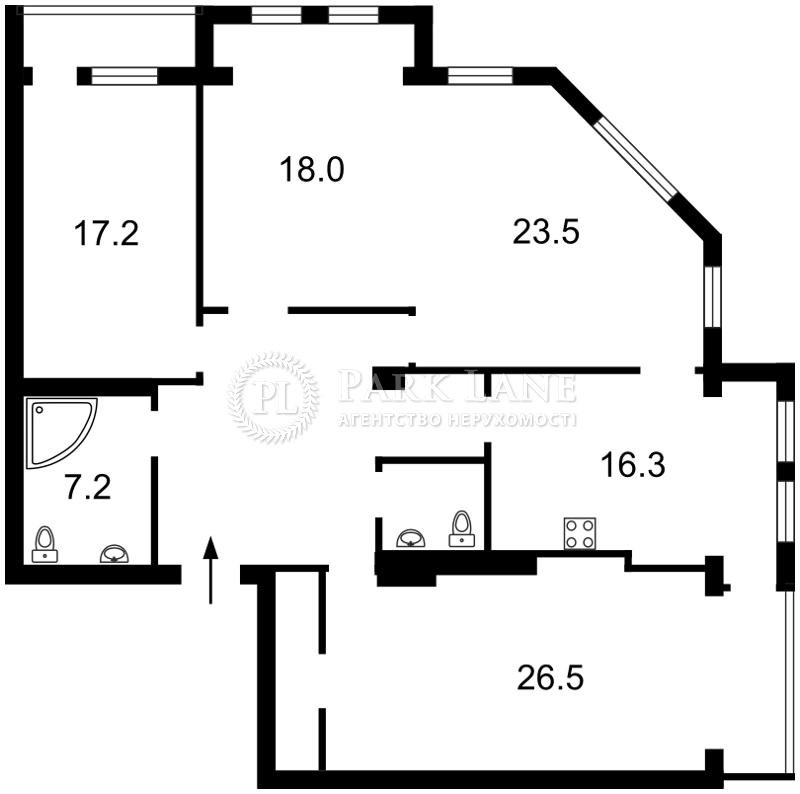 Квартира вул. Лабораторна, 8, Київ, R-16414 - Фото 2