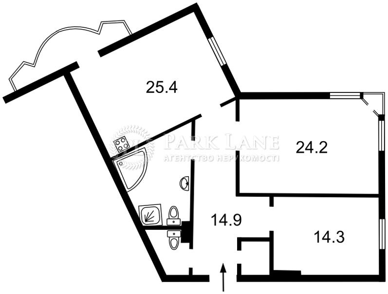 Квартира ул. Липкивского Василия (Урицкого), 18в, Киев, A-101290 - Фото 2