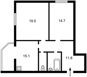 Квартира I-28460, Леси Украинки, 12, Святопетровское (Петровское) - Фото 2