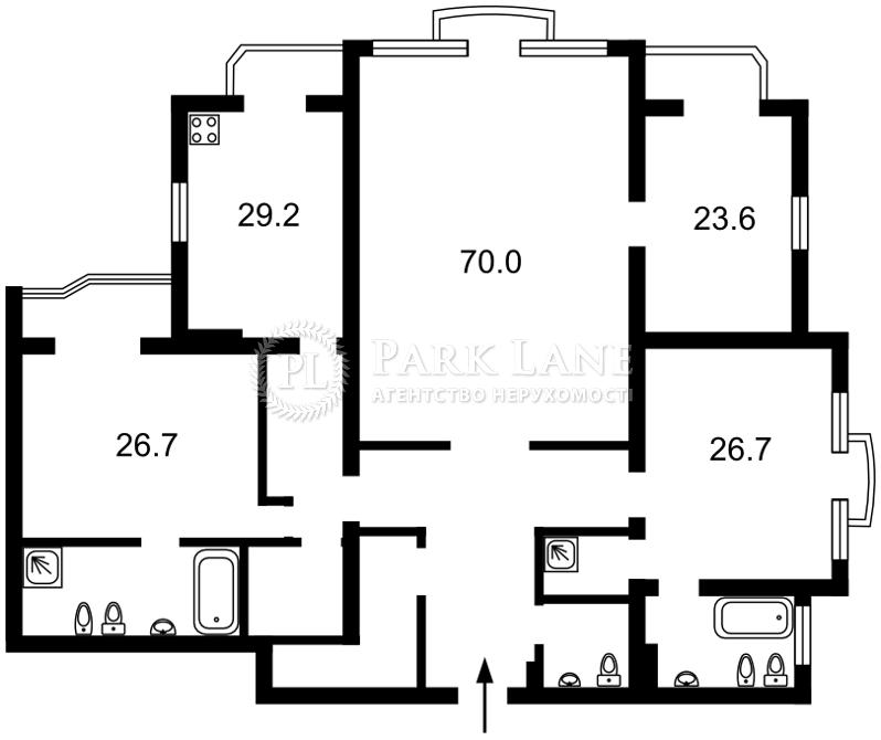 Квартира ул. Паторжинского, 14, Киев, I-28406 - Фото 2