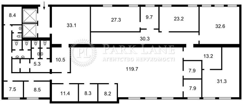Нежитлове приміщення, B-96699, Бульварно-Кудрявська (Воровського), Київ - Фото 1