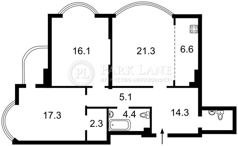 Квартира Харьковское шоссе, 182, Киев, X-24406 - Фото 2