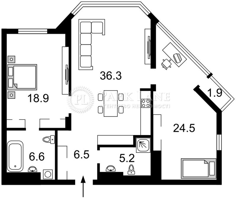 Квартира ул. Болсуновская (Струтинского Сергея), 2, Киев, I-28486 - Фото 2