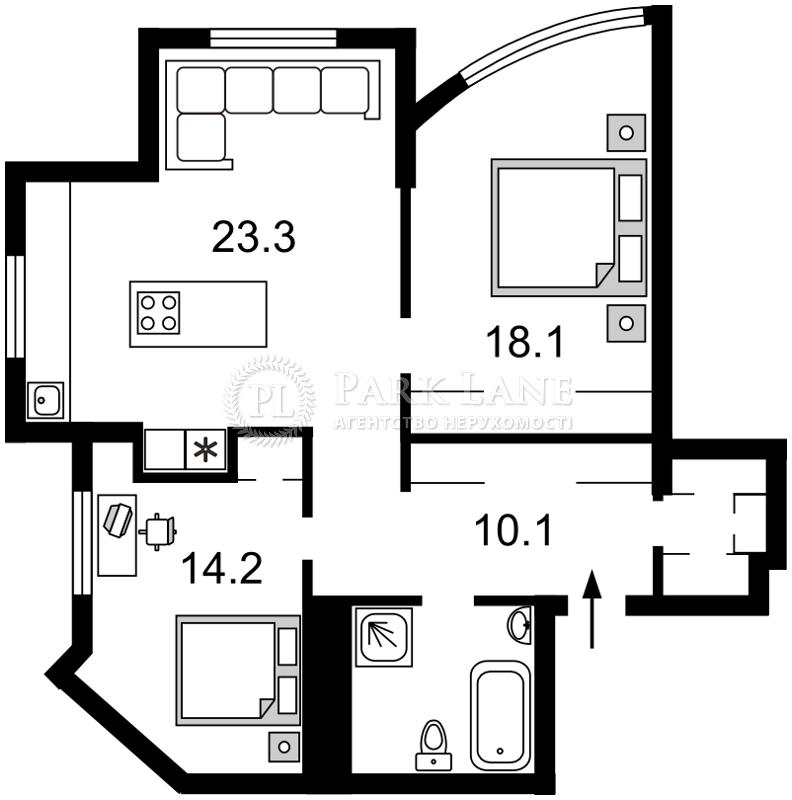 Квартира ул. Дмитриевская, 82, Киев, Z-315457 - Фото 2