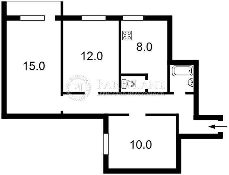 Квартира ул. Шолом-Алейхема, 20, Киев, R-17264 - Фото 2