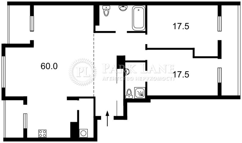 Квартира ул. Драгомирова Михаила, 20, Киев, B-96613 - Фото 2