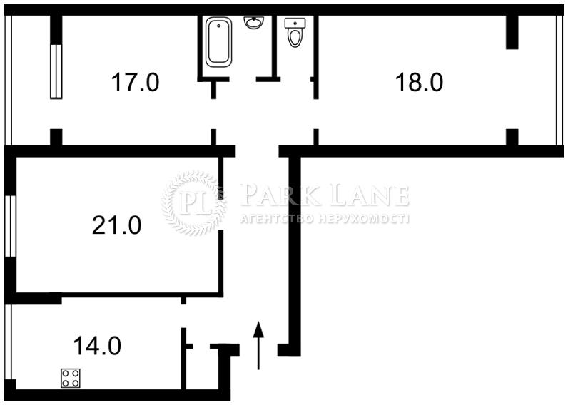 Квартира ул. Антоновича (Горького), 88, Киев, R-4142 - Фото 2