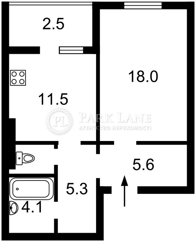 Квартира ул. Заречная, 1б, Киев, J-25811 - Фото 2