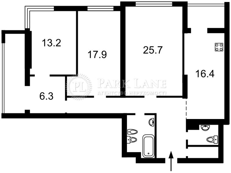 Квартира Лобановского просп. (Краснозвездный просп.), 4г, Киев, Z-346545 - Фото 2